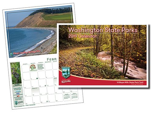 Composite 2019 Washington State Parks calendar image